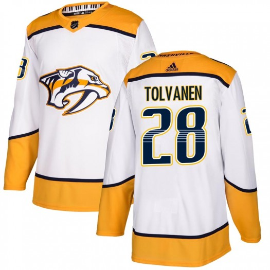 Eeli Tolvanen Nashville Predators Men's Adidas Authentic White Away Jersey