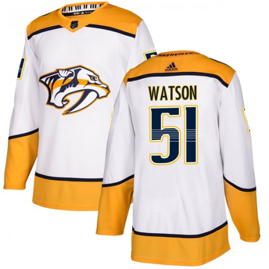 Austin Watson Nashville Predators Men's Adidas Authentic White Away Jersey