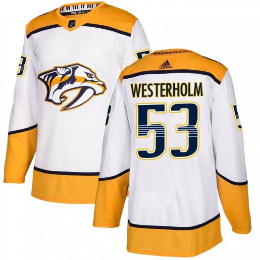 Niclas Westerholm Nashville Predators Men's Adidas Authentic White Away Jersey