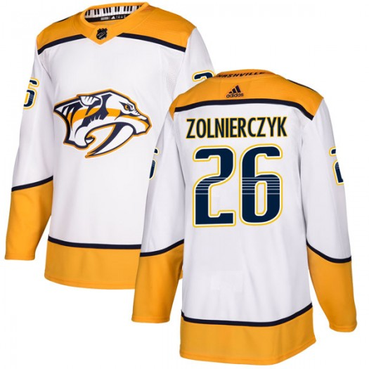 Harry Zolnierczyk Nashville Predators Men's Adidas Authentic White Away Jersey