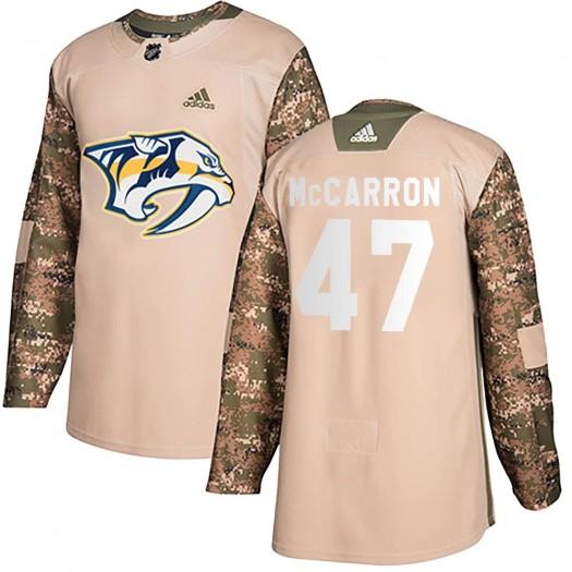 Michael McCarron Nashville Predators Youth Adidas Authentic Camo ized Veterans Day Practice Jersey