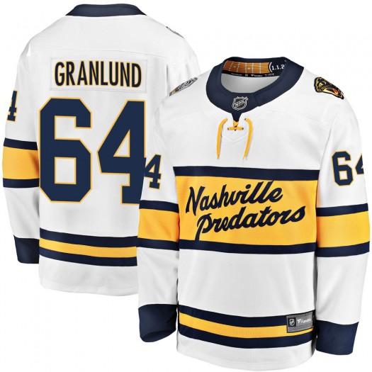 Mikael Granlund Nashville Predators Men's Fanatics Branded White 2020 Winter Classic Breakaway Jersey