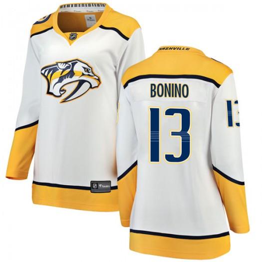 Nick Bonino Nashville Predators Women's Fanatics Branded White Breakaway Away Jersey