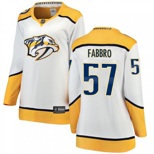 Dante Fabbro Nashville Predators Women's Fanatics Branded White Breakaway Away Jersey