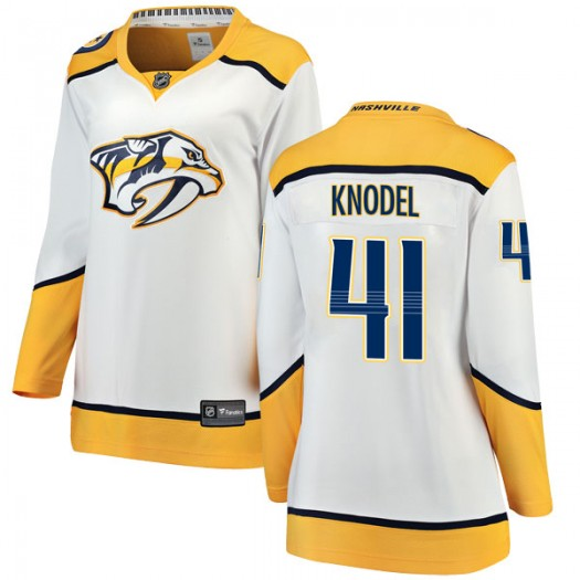 Eric Knodel Nashville Predators Women's Fanatics Branded White Breakaway Away Jersey