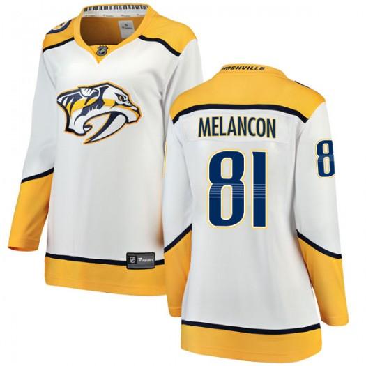 T.J. Melancon Nashville Predators Women's Fanatics Branded White Breakaway Away Jersey