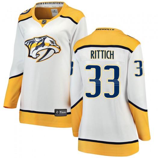 David Rittich Nashville Predators Women's Fanatics Branded White Breakaway Away Jersey