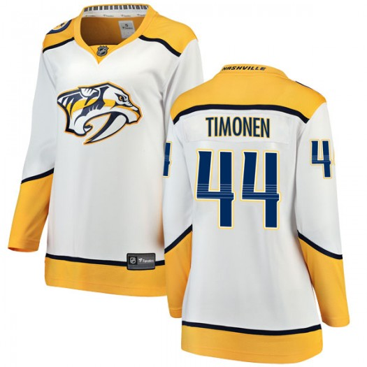 Kimmo Timonen Nashville Predators Women's Fanatics Branded White Breakaway Away Jersey