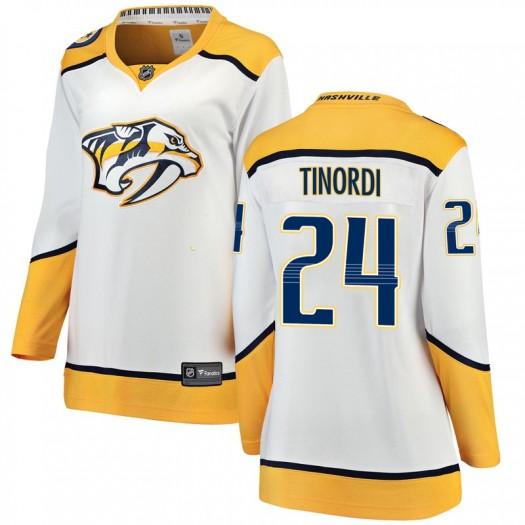 Jarred Tinordi Nashville Predators Women's Fanatics Branded White Breakaway Away Jersey