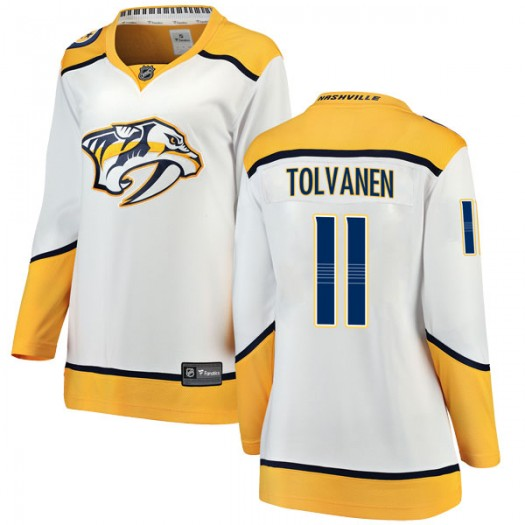 Eeli Tolvanen Nashville Predators Women's Fanatics Branded White Breakaway Away Jersey