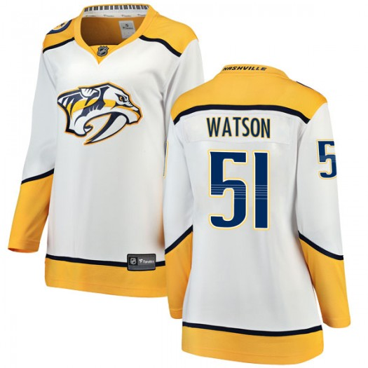 Austin Watson Nashville Predators Women's Fanatics Branded White Breakaway Away Jersey