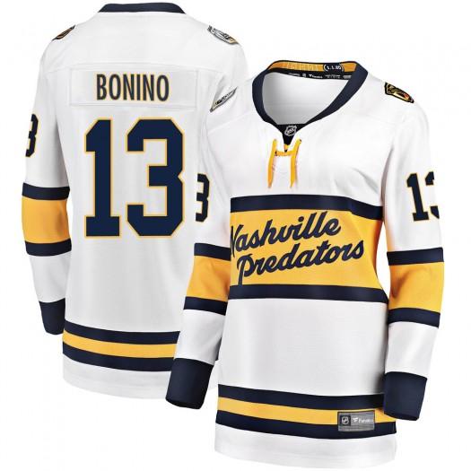 Nick Bonino Nashville Predators Women's Fanatics Branded White 2020 Winter Classic Breakaway Jersey