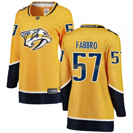 Dante Fabbro Nashville Predators Women's Fanatics Branded Yellow Breakaway Home Jersey