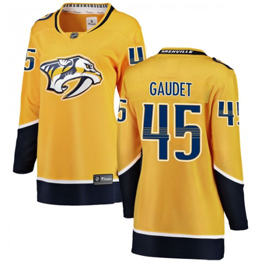 Tyler Gaudet Nashville Predators Women's Fanatics Branded Yellow Breakaway Home Jersey