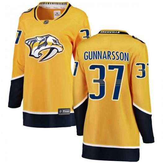 Jonas Gunnarsson Nashville Predators Women's Fanatics Branded Yellow Breakaway Home Jersey