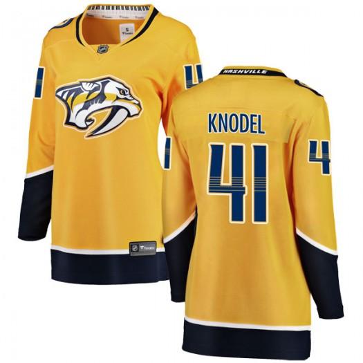 Eric Knodel Nashville Predators Women's Fanatics Branded Yellow Breakaway Home Jersey