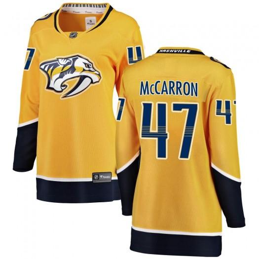 Michael McCarron Nashville Predators Women's Fanatics Branded Yellow ized Breakaway Home Jersey