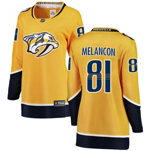 T.J. Melancon Nashville Predators Women's Fanatics Branded Yellow Breakaway Home Jersey