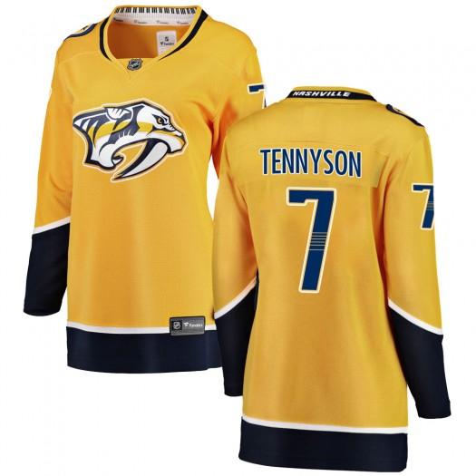 Matt Tennyson Nashville Predators Women's Fanatics Branded Yellow Breakaway Home Jersey