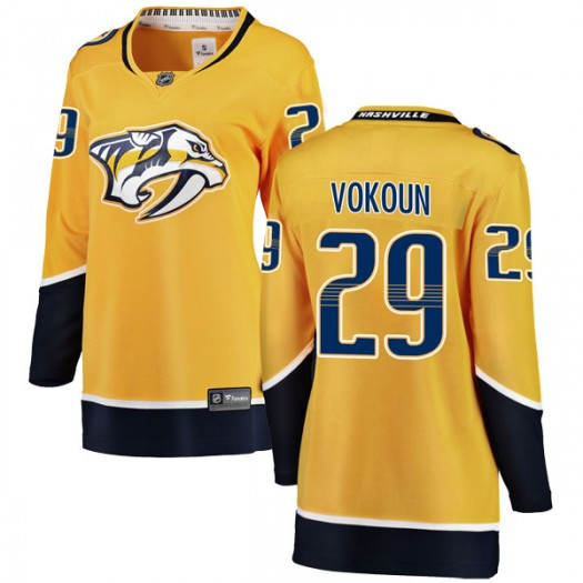 Tomas Vokoun Nashville Predators Women's Fanatics Branded Yellow Breakaway Home Jersey