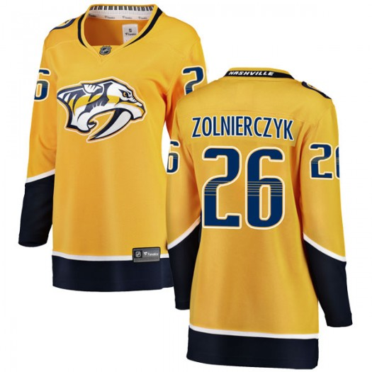 Harry Zolnierczyk Nashville Predators Women's Fanatics Branded Yellow Breakaway Home Jersey