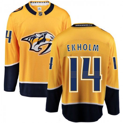 Mattias Ekholm Nashville Predators Men's Fanatics Branded Yellow Home Breakaway Jersey
