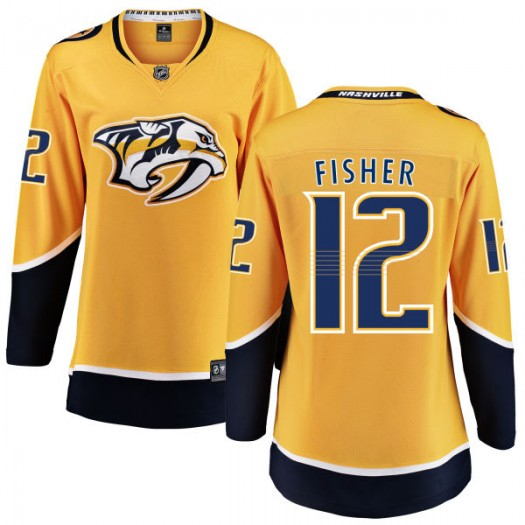 Mike Fisher Nashville Predators Women's Fanatics Branded Yellow Home Breakaway Jersey