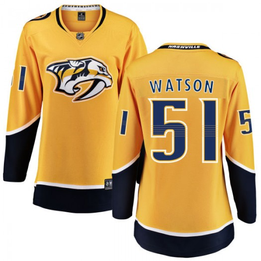 Austin Watson Nashville Predators Women's Fanatics Branded Yellow Home Breakaway Jersey