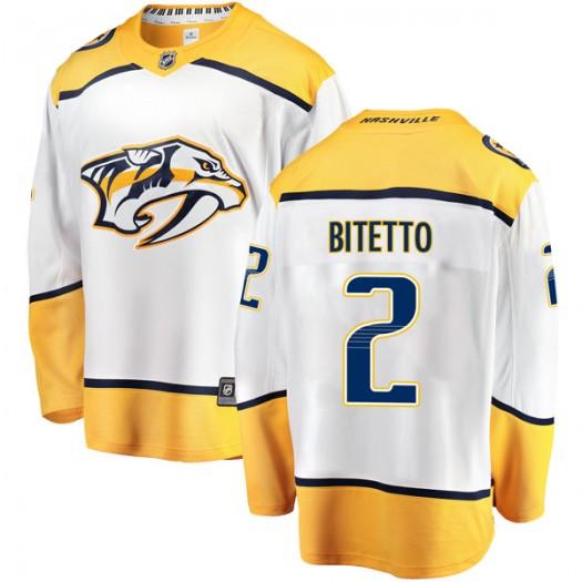 Anthony Bitetto Nashville Predators Youth Fanatics Branded White Breakaway Away Jersey