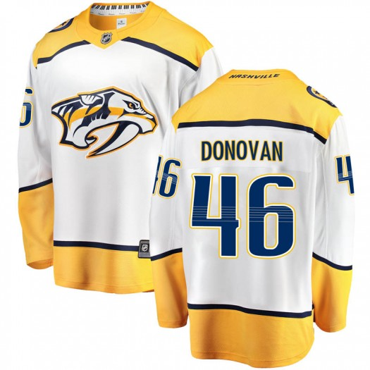 Matt Donovan Nashville Predators Youth Fanatics Branded White Breakaway Away Jersey