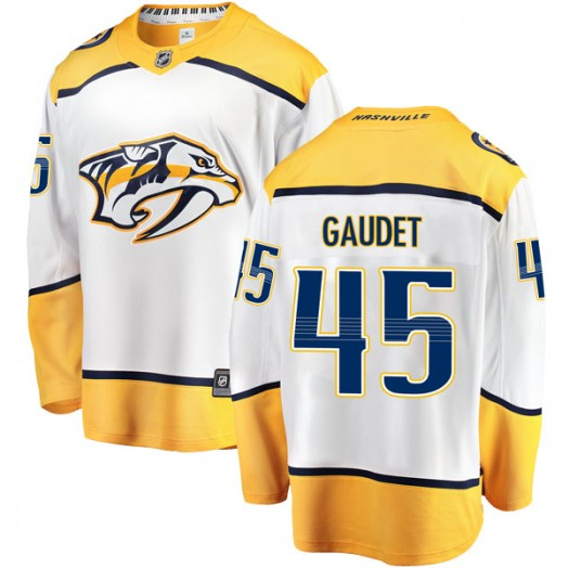 Tyler Gaudet Nashville Predators Youth Fanatics Branded White Breakaway Away Jersey