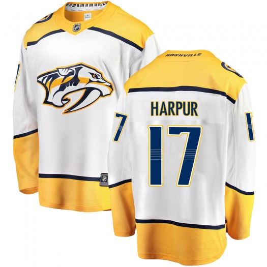 Ben Harpur Nashville Predators Youth Fanatics Branded White Breakaway Away Jersey