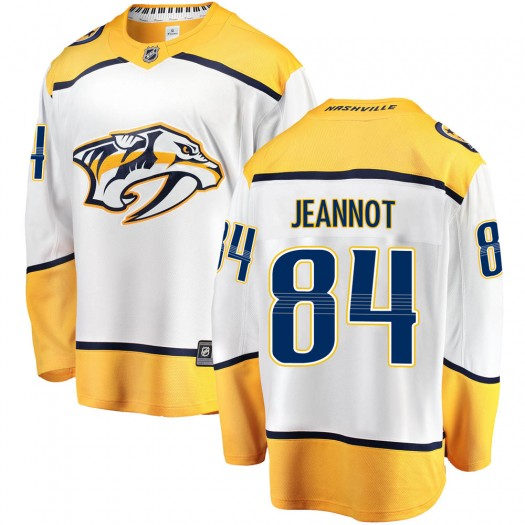 Tanner Jeannot Nashville Predators Youth Fanatics Branded White Breakaway Away Jersey