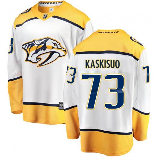 Kasimir Kaskisuo Nashville Predators Youth Fanatics Branded White Breakaway Away Jersey