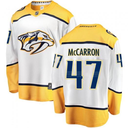 Michael McCarron Nashville Predators Youth Fanatics Branded White ized Breakaway Away Jersey