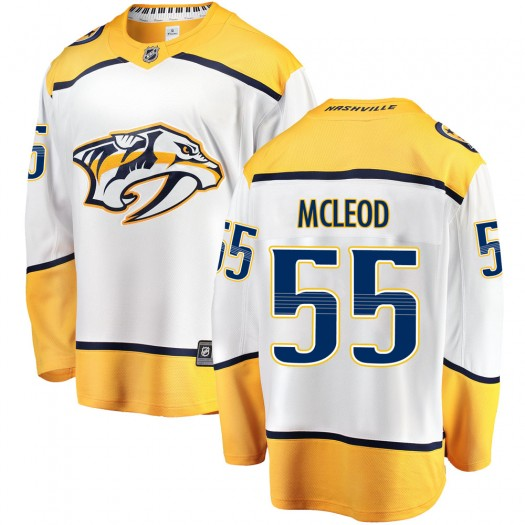 Cody Mcleod Nashville Predators Youth Fanatics Branded White Cody McLeod Breakaway Away Jersey