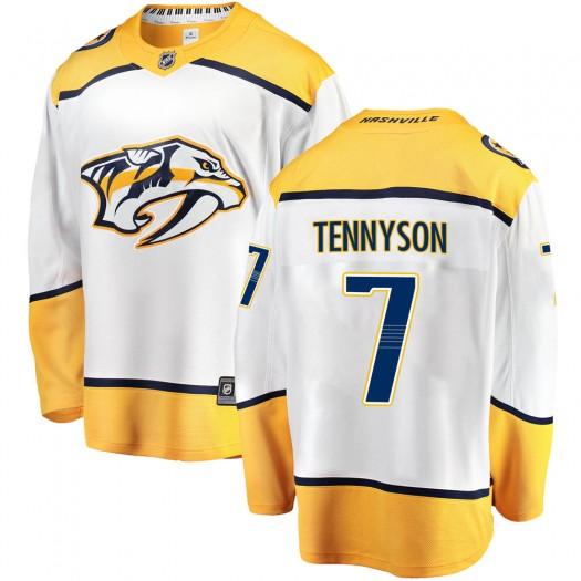Matt Tennyson Nashville Predators Youth Fanatics Branded White Breakaway Away Jersey
