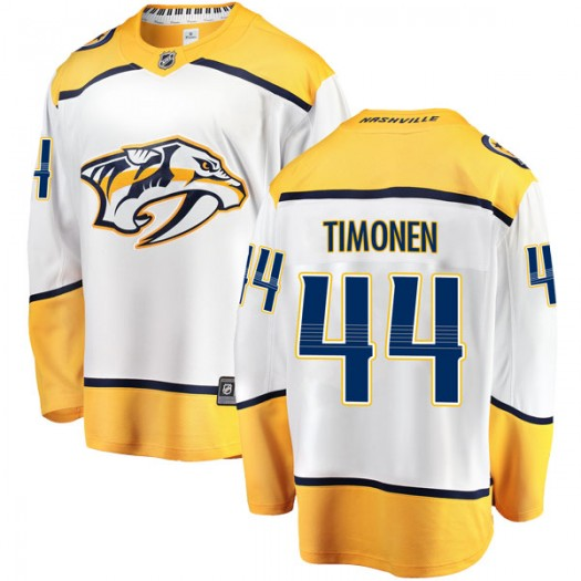 Kimmo Timonen Nashville Predators Youth Fanatics Branded White Breakaway Away Jersey