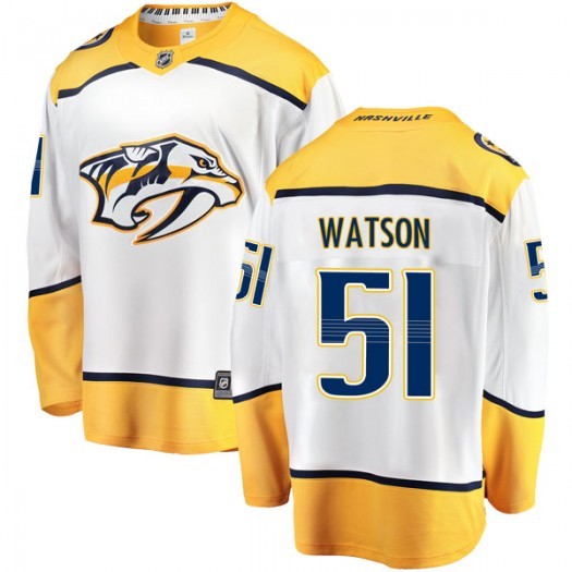Austin Watson Nashville Predators Youth Fanatics Branded White Breakaway Away Jersey