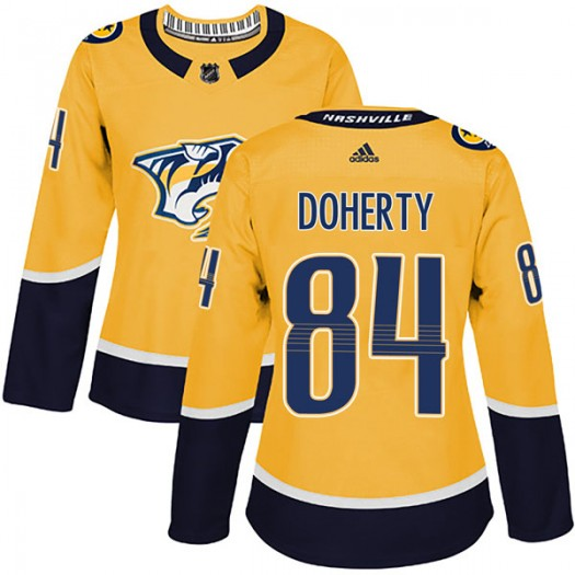 Teddy Doherty Nashville Predators Women's Adidas Authentic Gold Home Jersey