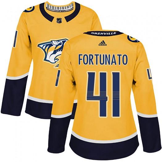 Brandon Fortunato Nashville Predators Women's Adidas Authentic Gold Home Jersey