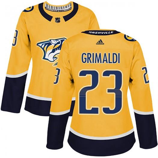 Rocco Grimaldi Nashville Predators Women's Adidas Authentic Gold Home Jersey