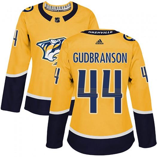 Erik Gudbranson Nashville Predators Women's Adidas Authentic Gold Home Jersey
