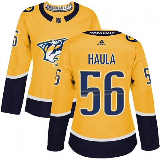 Erik Haula Nashville Predators Women's Adidas Authentic Gold Home Jersey