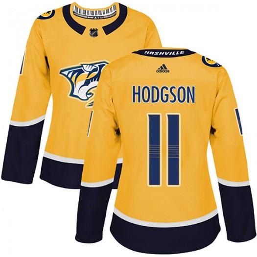 Cody Hodgson Nashville Predators Women's Adidas Authentic Gold Home Jersey