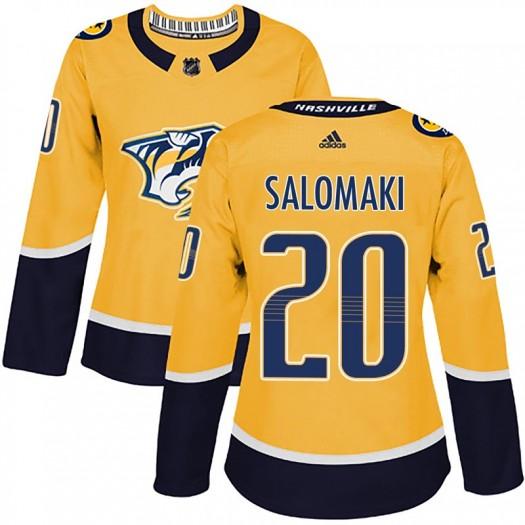 Miikka Salomaki Nashville Predators Women's Adidas Authentic Gold Home Jersey