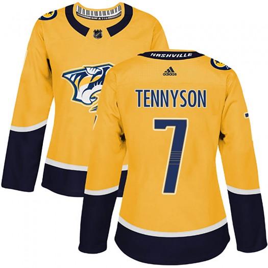 Matt Tennyson Nashville Predators Women's Adidas Authentic Gold Home Jersey