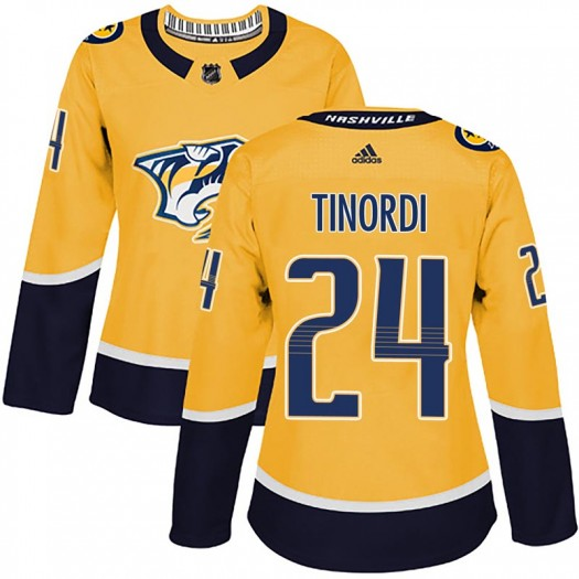 Jarred Tinordi Nashville Predators Women's Adidas Authentic Gold Home Jersey