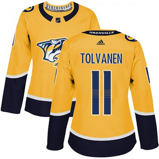 Eeli Tolvanen Nashville Predators Women's Adidas Authentic Gold Home Jersey