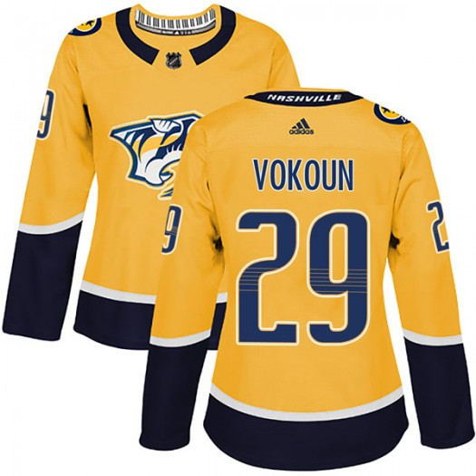 Tomas Vokoun Nashville Predators Women's Adidas Authentic Gold Home Jersey